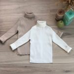 Kids Sweaters Autumn Girls Turtleneck Sweaters 1-6Yrs Baby Boys Pullover Winter Knitted Bottoming Ribbed Boys Sweaters photo review