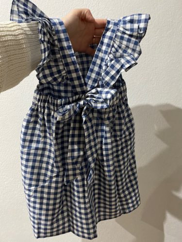 2020 New Summer Flying sleeve Plaid Baby Girl Clothes Ruffles Backless Children Dress Leisure Lovely Baby Dress Kids Clothing photo review
