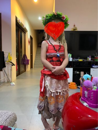 VOGUEON Moana Adventure Outfit Girls Summer Vaiana Fancy Dress Up Clothes Children Birthday Party Photography Princess Costume photo review