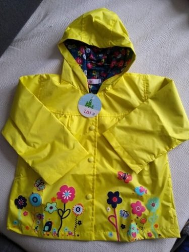 Autumn Waterproof Coat For Girl Baby Trench Coat Kids Baby Girls Jacket Infant Boys Child Fashion Clothes Hooded Outerwear 2-6 Y photo review