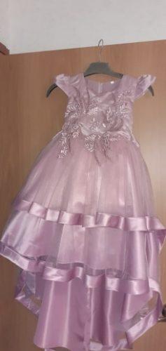 Kids Girl Cake Tutu Flower Dress Children Party Wedding Formal Dress for Girl Princess First Communion Costume photo review