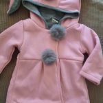Winter autumn baby girls coat Long sleeve 3D Rabbit ears fashion casual hoodies kids clothes clothing children Outerwear photo review