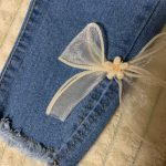2-7T Jeans For Girls Elegant Bow Cute Denim Pants Sweet Bowknot Stretch Lovely Spring Child Trousers Toddler Kid Baby Steetwear photo review