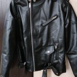 children's pu jacket Girls motorcycle jacket kid outwear solid color Zipper belt Faux Leather spring Autumn fashion pu jacket photo review