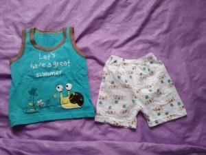 Summer Cute Cartoon 2PCS Kids Baby Boys Girls Cartoon Vest Top Shorts Pants Set Clothes Children Pajamas Girls Clothing Sets photo review