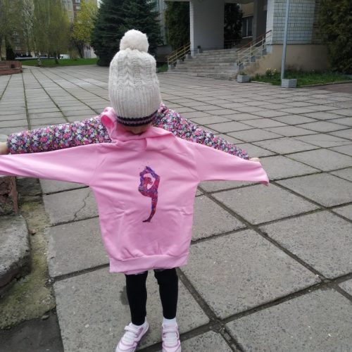 Watercolor gymnastics art print sweatshirts girls GYM lover birthday gift pink top thick clothes kids custom hooodie wholesale photo review