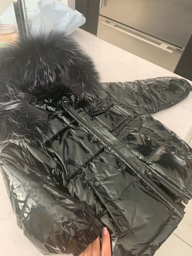 Black winter jacket parka for boys winter coat , 90% down girls jackets children's clothing snow wear kids outerwear boy clothes photo review