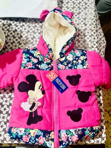 New Girls jackets fashion Minnie cartoon Clothing coat baby girl winter warm and casual Outerwear for 1-5 years old Kids jackets photo review