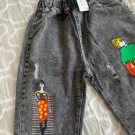 3-13 Years Print Girls Denim Pants Children's Clothing Elastic Waist Casual Jeans Stonewashed Trousers Spring Autumn Wear photo review