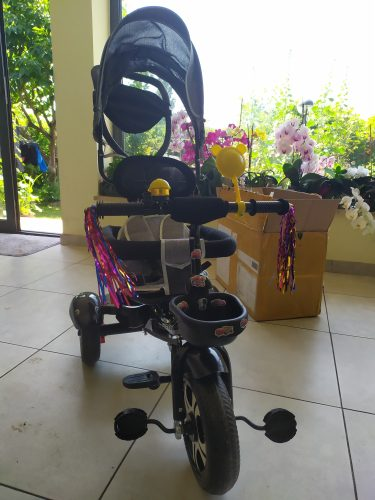 Baby Stroller 3 In 1 Portable Baby Tricycle Bike Baby Carriage 3 Wheels Convertible Handle Children Bicycle Trike Can Sit Lie photo review
