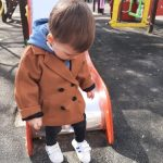 Spring Grid Jackets Boys girls Woolen Double-breasted Baby Boy Trench Coat Lapel autumn Kids Outerwear Coats Wool Coat Overcoat photo review