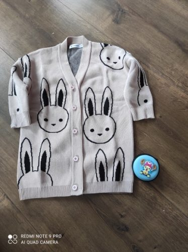 Baby Girls Sweaters Toddler Boys Cardigans Coat Cartoon Rabbit Children Cotton Knitwear Autumn Winter Kids Girl Pullover Sweater photo review