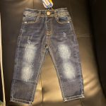 Chumhey 0-8T Top Quality Spring Kids Jeans Children Pants Baby Boys Girls Denim Trousers Infant Clothing broken hole Clothes photo review