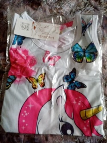 Summer Dress for Girls Print Cartoon Vestidos Kids Dresses for Girls Party Casual Unicorn Dress Baby Children Clothes 2-12 Years photo review