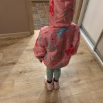 Spring Kids Clothes Windbreaker Trench Coat For Children Hooded Rainbow Unicorn Outerwear Long Sleeve Coat For Girls 2 to 8 Year photo review