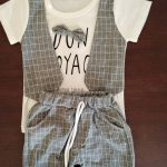 New Summer Children Boys Girl Cotton Clothes Kids Bowknot T-Shirt Shorts 2pcs/Sets Toddler Fashion Clothing Sets Baby Tracksuits photo review