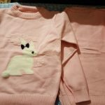 New Arrival girl Sweater Children Clothing rabbit Pattern Knitted Sweater Baby girls Pullover Sweater Knitwear 1-5T Kids photo review