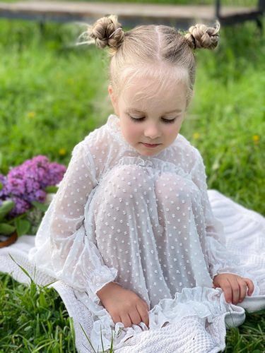 Autumn Kids Dresses for Girls Spring Cute Little Girl Long Sleeve Princess Dress Lace Collar Jacquard Weave Toddler Kids Costume photo review