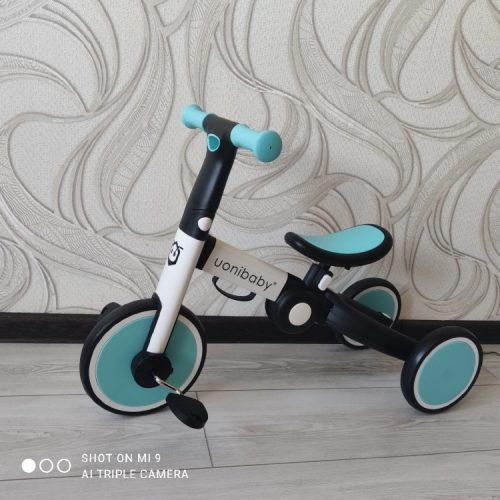 Original Uonibaby 4 Into 1 Baby Tricycle Stroller Kids Pedal Trike Two Wheel Balance Bike Scooter Trolley For 1-6 Years Old photo review