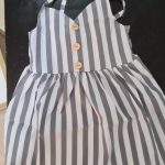 Pudcoco Summer Toddler Baby Girl Clothes Sleeveless Striped Strap Dress Outfit Summer Clothes Sundress photo review
