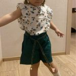 Menoea Girls Suits 2020 Summer Style Kids Beautiful Floral Flower Sleeve Children O-neck Clothing Shorts Suit 2Pcs Clothes photo review