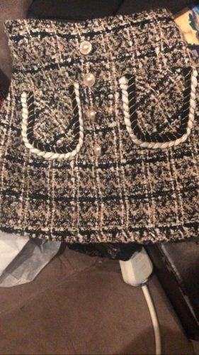 Autumn Winter Girls Skirt Baby Skirt Kids Fashion Skirt Children Bottoms Fashion Check Gunny Pearl Pocket Velvet Warm 4 To 12 Yr photo review