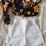 Fashion Newborn Baby Kid Girl Clothes Summer Floarl Top T-shirt Solid Short Pant 2pcs Outfits Set Clothing for 1-5 Years Old photo review