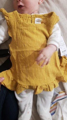 Ruffle Sleeve Summer Girls Blouses Tops Linen Cotton Lace Casual Children Kids Baby Girl Clothes Shirts Dress photo review