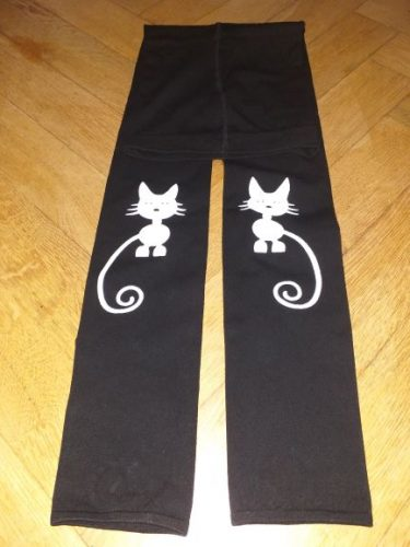 Spring Autumn Girls Leggings Skinny Black Cotton Elastic Pants Leggins Cat Bow Flower Cat Pattern for Girls Kids Children Pant photo review