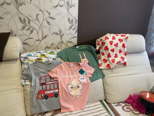 Boys T Shirt Girls Kids Children Tops Cotton Clothing Short Sleeves Summer Clothes Print Cartoon Tee White Yellow Orange Blue photo review