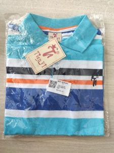 New Boys Striped Summer T-Shirts School Children Clothing Cotton Short Sleeve Turn-down Collar Buttoned Sports Tees Size 2-12Yrs photo review