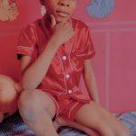 Girls Pajamas Set Summer Short Sleeve Children's Sleepwear Set Fake Silk Pajamas Boy Pyjamas Sets for Kids Children's Day Gift photo review