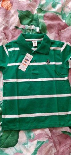 Jargazol T Shirt Kids Clothes Turn-down Collar Baby Boy Summer Top Tshirt Color Stripes Vetement Enfant Fille Camisetas Fnaf photo review