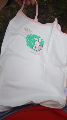 Cotton Girls T Shirt Summer T-shirt For Children Shirts Cartoon Girls Tops Kids Vest Baby Undershirt Singlet photo review