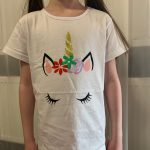 2020 Summer Fashion Unisex Unicorn T-shirt Children Boys Short Sleeves White Tees Baby Kids Cotton Tops For Girls Clothes 3 8Y photo review