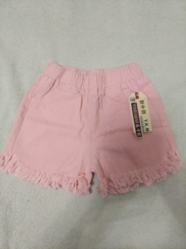 Baby Girl Summer Shorts Girls Fashion Cotton Jeans Pink Denim Short Pants For Girls Kids Children Trousers Toddler Bottoms photo review