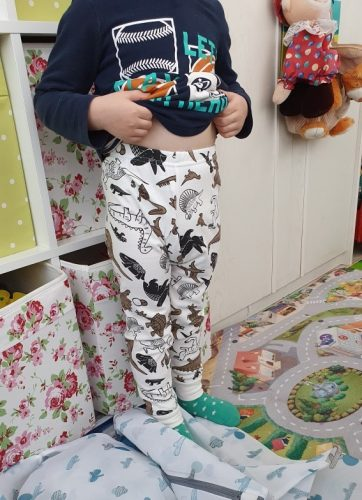 Summer Autumn Baby Kids Childrens Printing Striped Toddler Classic Leggings Boys Girls Pants 3-12Y Winter Underwear photo review