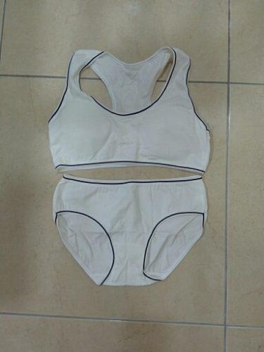 Student Girl Bra Underwear Set Without Steel Ring Cotton Puberty Vest Sports Underwear Teenage Girls Top photo review