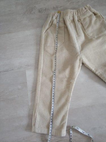 2021 Spring Kids Trousers Corduroy Boys Pants Solid Harem Pants Children Clothing Girls Warm Pants photo review