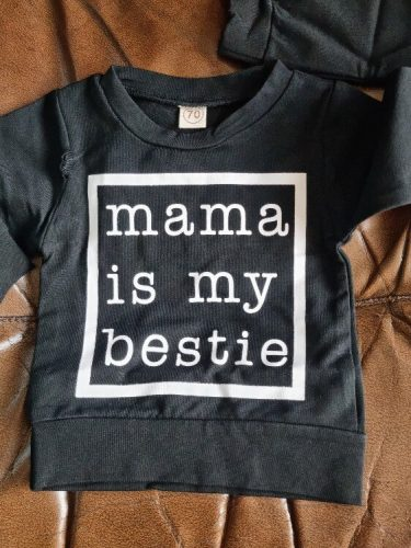 Infant Kids Baby Girls Boys Tops Hoodie Long Sleeve Letter Print Shirts Casual Spring Autumn Tops Clothing photo review