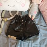 100-160 Cm Winter Girls Thick Warm Fleece Pu Leather Shorts Baby Kids Children Fashion Wear Two Colors photo review
