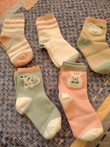 Kids Sock 1 piece=5 pair Children's Cotton Socks Student Socks Floor Socks Autumn Winter Spring Boys And Girls Multi Color Sock photo review