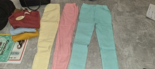 Girl Stretchy Pants Candy Color Slim Leggings for Girls Kids Children Clothes Trousers 2 to 12 Years photo review