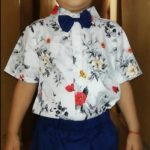 1-6Years Kids Boy Gentlemen Sets Summer Infant Baby Boys Clothes 2Pcs Bow Tie Print T-Shirt Shorts Fashion Child Party Sets photo review