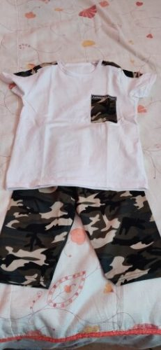 Summer Children Boy Clothes Sets Kids 2pcs Short Sleeves T-Shirt Suits Camouflage Shorts Child Clothing Suits FOR 12 14 16 YEARS photo review