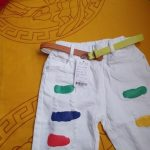 2-7years Baby Boys Shorts Paint Ripped Casual Shorts for Boys Summer Short Pants Pockets Hole White Baby Shorts photo review