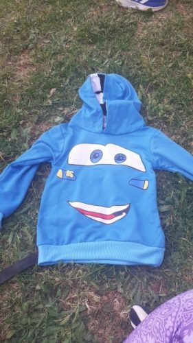 2020 Spring Autumn Hot Sale Fashion Boys Cartoon Sport Hoodies T Shirt Outerwear Children Long Sleeve Casual Hooded Sweatshirt photo review