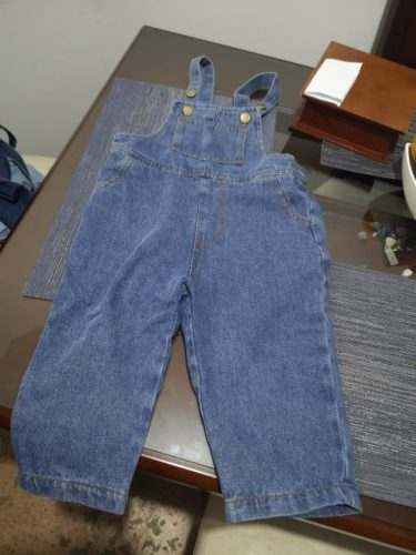 Children Overalls Boys Girls denim Pants 2020 New Spring Autumn all-match Jeans toddler kids Loose Overalls photo review