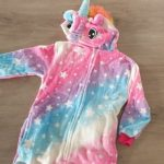 Kigurumi Onesie Kids Unicorn Pajamas For Children Animal Cartoon Blanket Sleepers Baby Costume Winter Boy Girl Licorne Jumspuit photo review