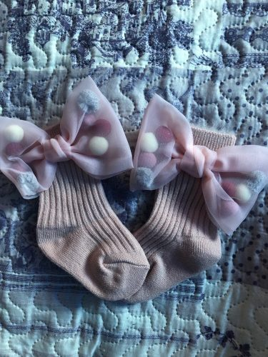Winter Baby Girls Socks With Big Bows Toddlers Infants Ankle Socks For Kids Girls Princess Sock Plus Velvet Cute Children Socks photo review